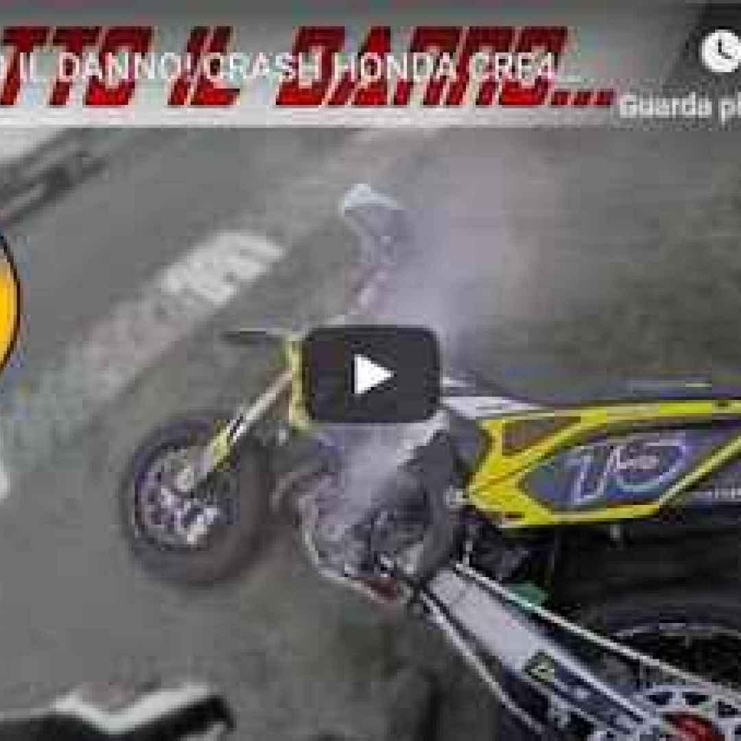 video honda crash moto motori