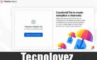 firefox send file sharing inviare file