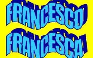 Storia: francesco  nomi  onomastico