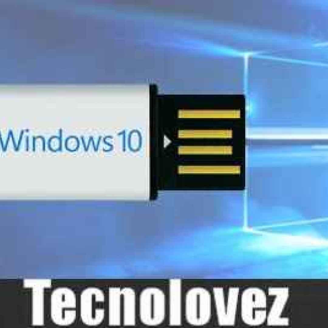windows 10  aggiornamento bloccato  usb