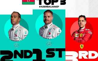Quarta doppietta consecutiva della Mercedes, nel Gran Premio del Azerbaijan. Bottas si conferma il r
