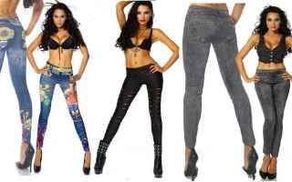 NUOVI Leggings Effetto Jeans<br /> Nuovo Modello Primavera/Estate Assicurati che i tuoi leggins sia