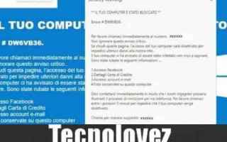 #dw6vb36 security warning errore truffa