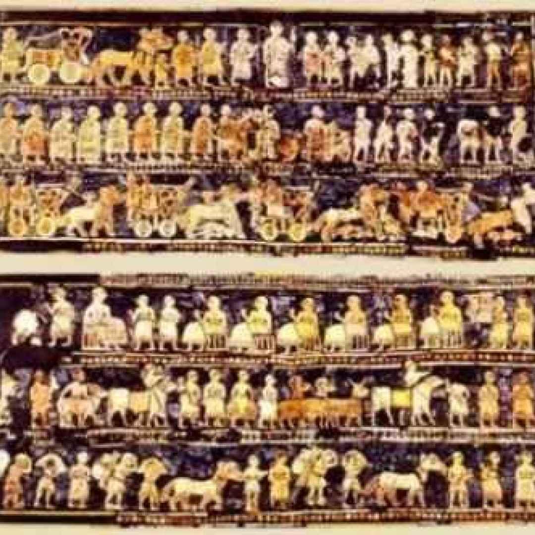 mosaico  stendardo di ur  sumeri