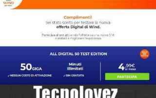 Telefonia: wind all digital 50 test edition offerta