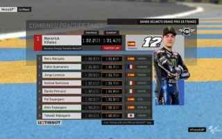 Maverick Vinales conferma il feeling, con la pista di Le Mans facendo in 1.31.428 il miglior tempo d