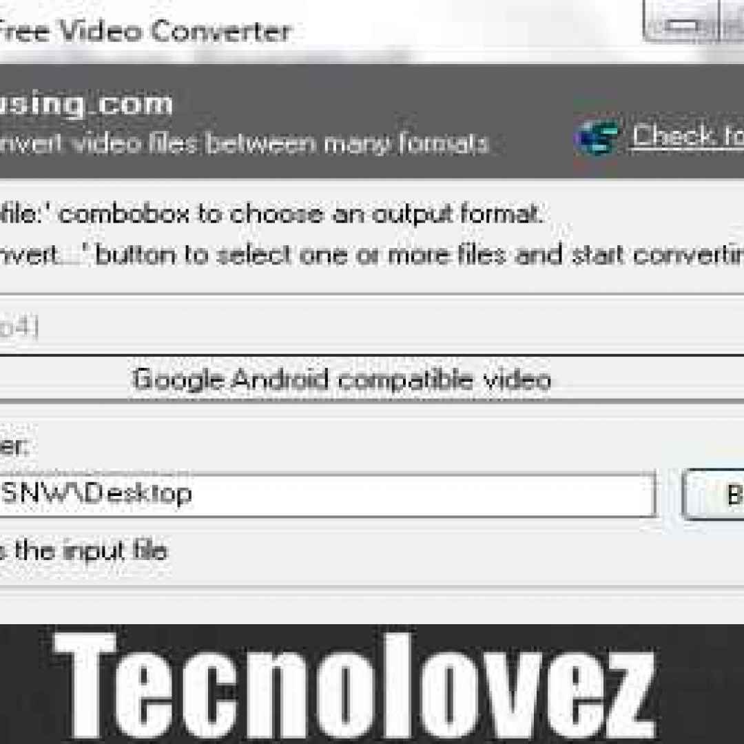 eusing free video converter  programma