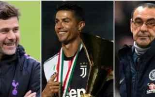 Calcio: juventus  sarri  ronaldo  pochettino