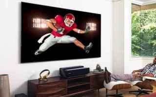 Televisione: Intrattenimento a tutto laser: ecco la Laser TV di Hisense, ed i proiettori smart di Epson e Optoma