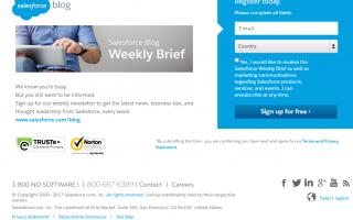 Web Marketing: landing page