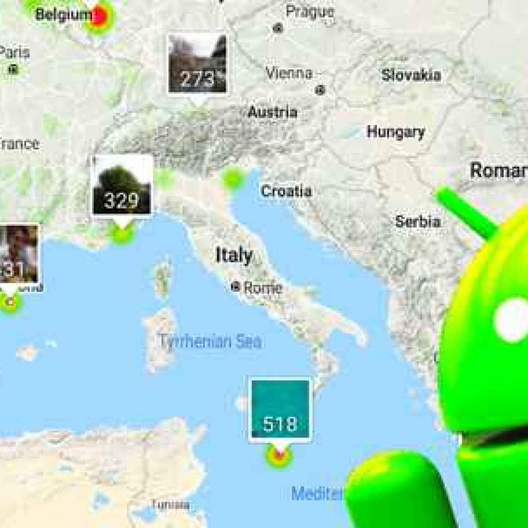 foto viaggi android geolocalizzazione