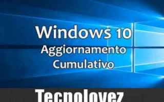Computer: windows 10 aggiornamento