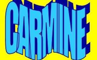 Storia: carmine  etimologia  significato