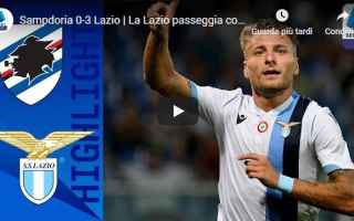 Serie A: sampdoria lazio video gol calcio
