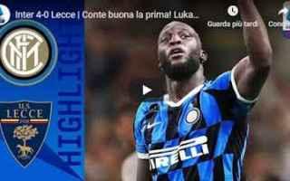 Serie A: inter lecce video gol calcio