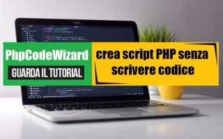 Programmazione: php generatore di script creare web app