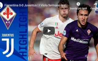 fiorentina juventus video gol calcio
