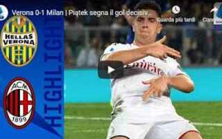 verona milan video gol calcio
