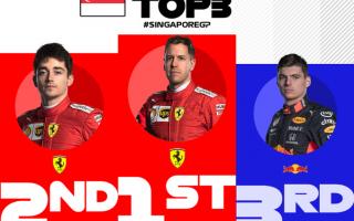 Terza vittoria consecutiva e prima doppietta stagionale, della Ferrari nel Gran Premio di Singapore,