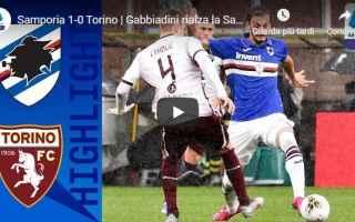sampdoria torino video gol calcio